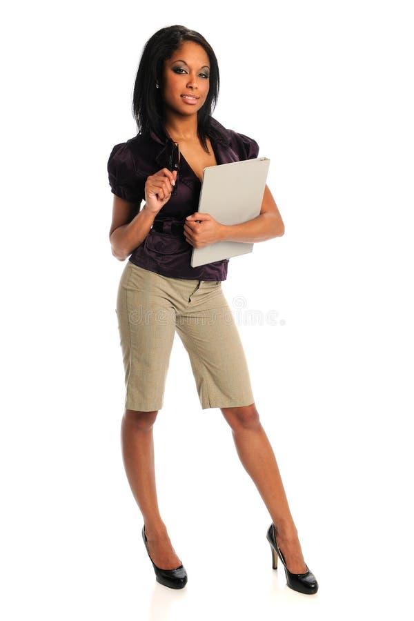 Mulher de negócios americana africana foto de stock royalty free