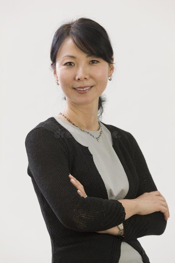 Mulher de negócios asiática imagem de stock