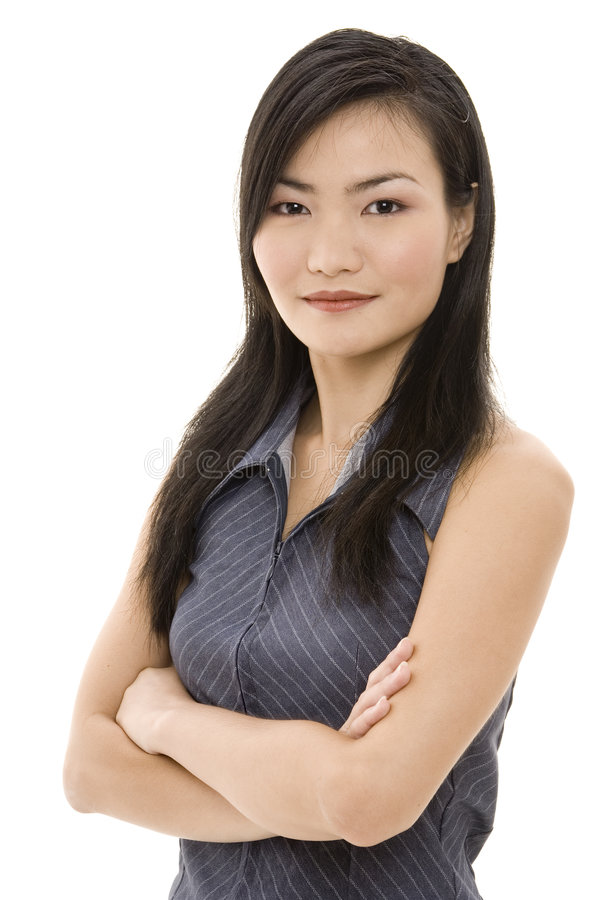 Mulher de negócios asiática 3 imagens de stock royalty free