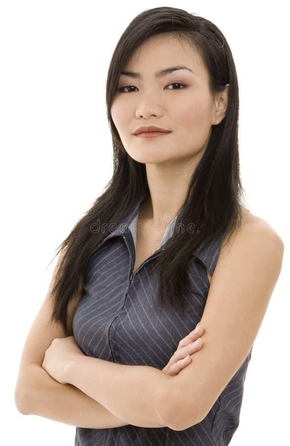 Mulher de negócios asiática 7 imagens de stock