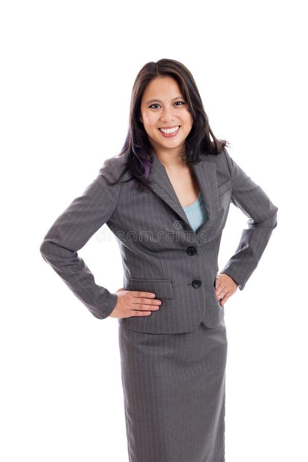 Mulher de negócios asiática Portrait imagens de stock