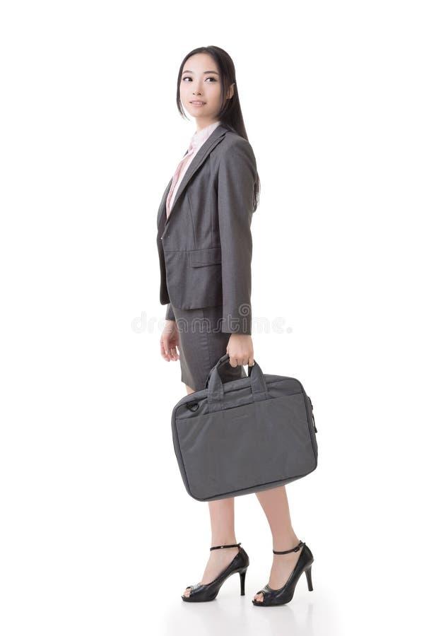 Mulher de negócios asiática segura imagem de stock royalty free