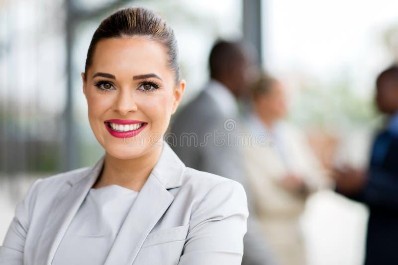 Mulher de negócios atrativa foto de stock