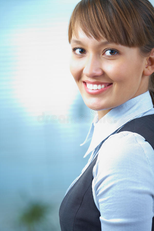 Mulher de negócios bem sucedida imagem de stock