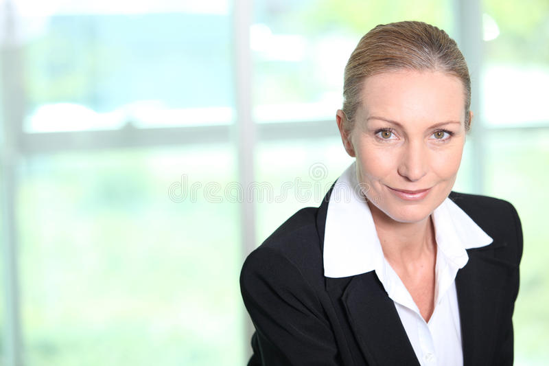 Mulher de negócios bem sucedida fotos de stock