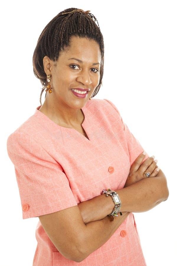 Mulher de negócios bonita - confiança fotografia de stock royalty free