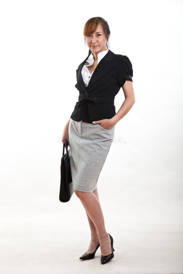 Mulher De Negócios Bonita Do Asian Dos Anos Quarenta Fotos de Stock