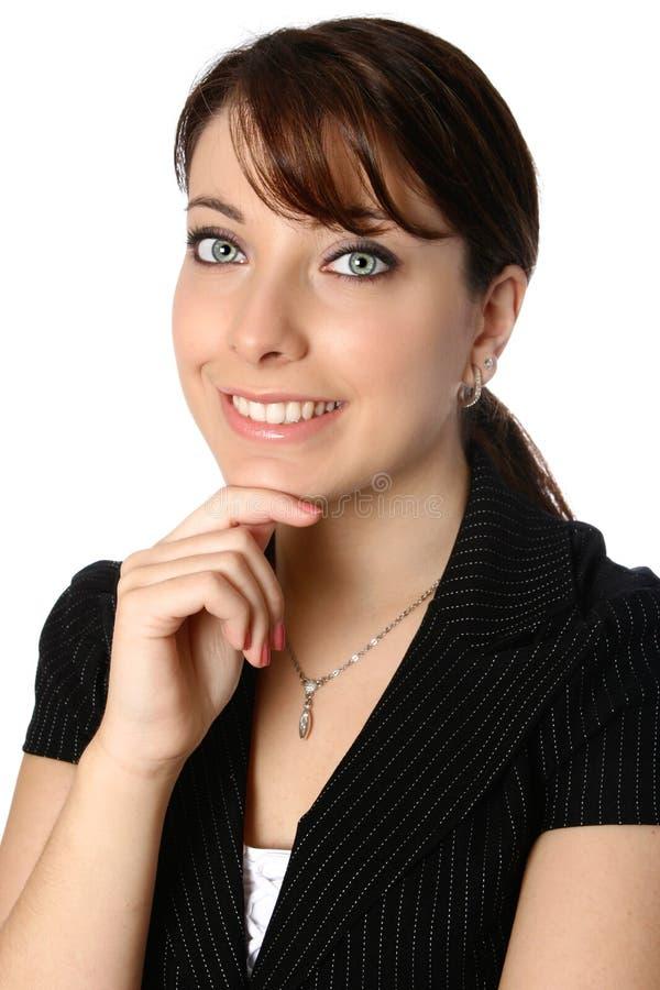 Mulher de negócios bonita e confiável imagens de stock royalty free