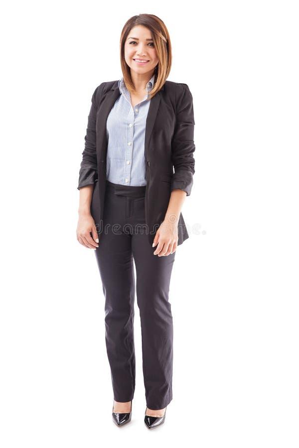 Mulher de negócios bonita em um terno fotos de stock