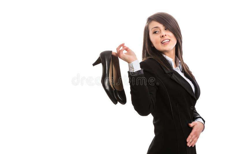 Mulher de negócios bonita nova após o trabalho fotos de stock royalty free