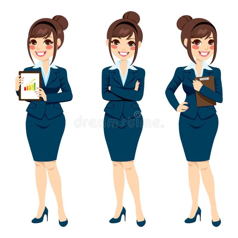 Mulher de negócios bonita Posing ilustração royalty free