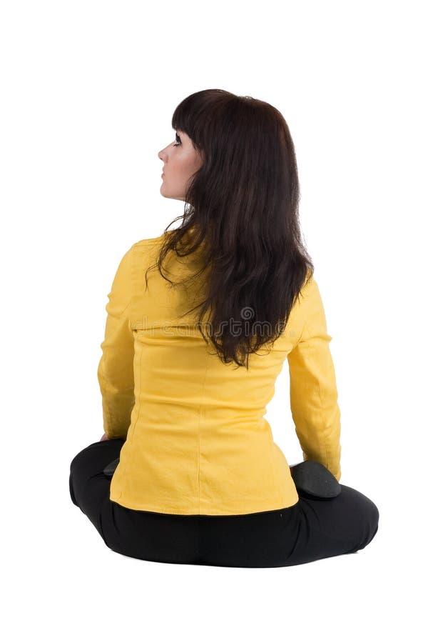 Download Mulher De Negócios Bonita Que Exercita A Ioga. Imagem de Stock - Imagem de lotus, assento: 12802319