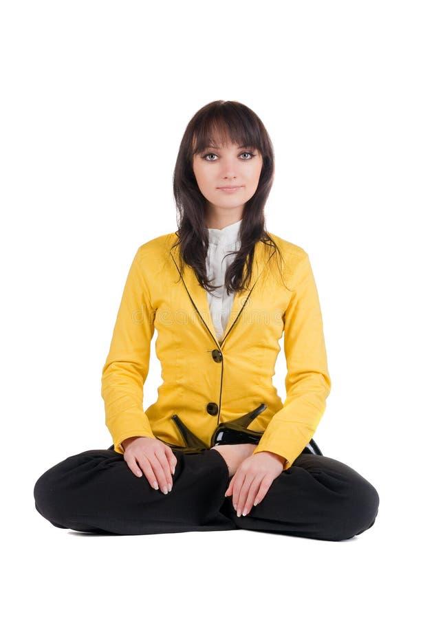 Download Mulher De Negócios Bonita Que Exercita A Ioga. Foto de Stock - Imagem de cruz, contemplation: 12802338