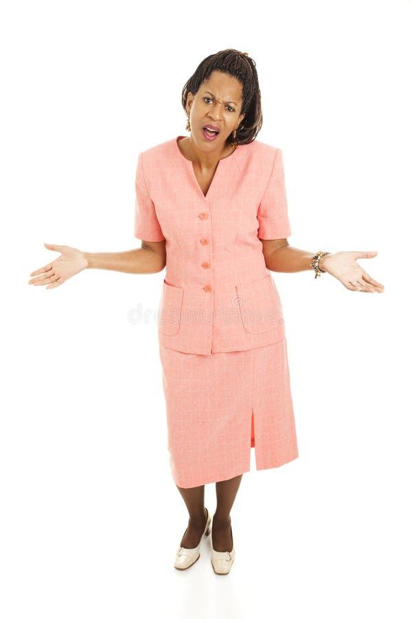 Mulher de negócios bonita - WTF foto de stock