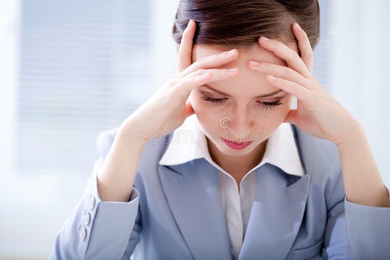 Mulher de negócios cansado imagens de stock royalty free
