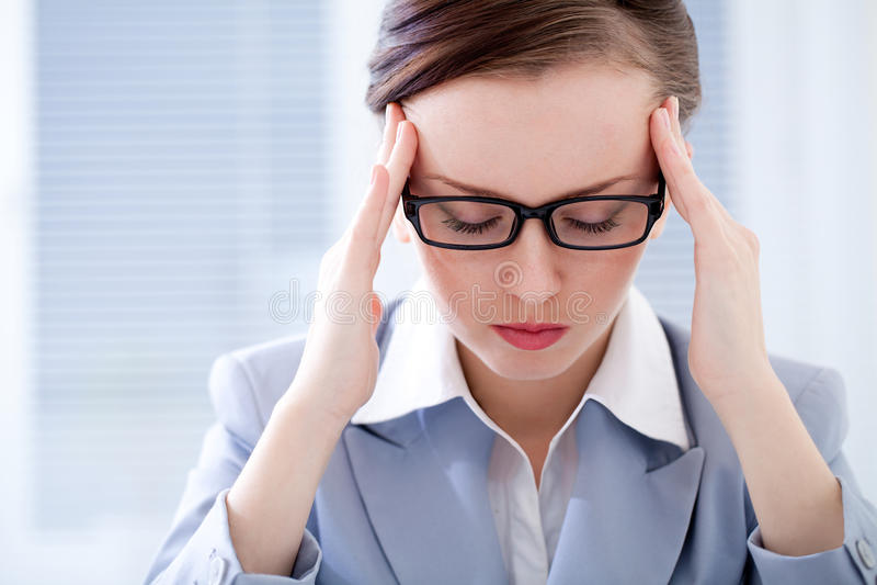 Mulher de negócios cansado foto de stock