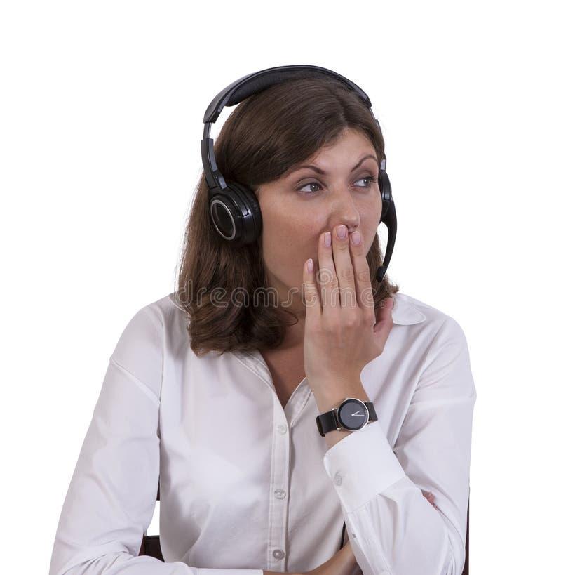 Mulher de negócios cansado que boceja fotos de stock royalty free