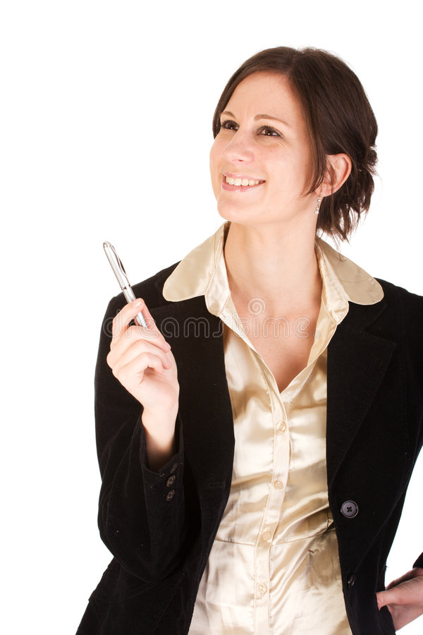Mulher de negócios caucasiano adulta nova com idéias imagem de stock royalty free
