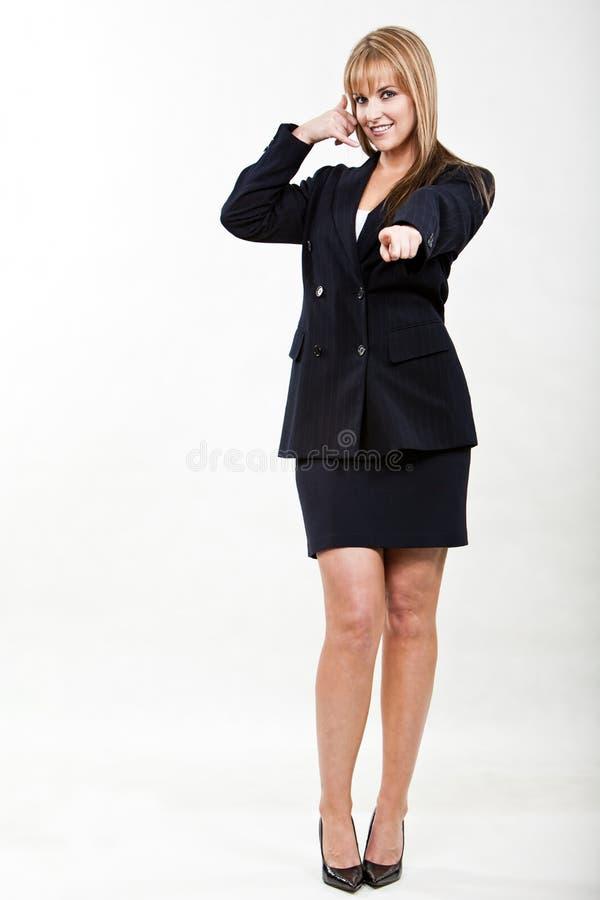 Mulher de negócios caucasiano loura nova e bonita foto de stock royalty free