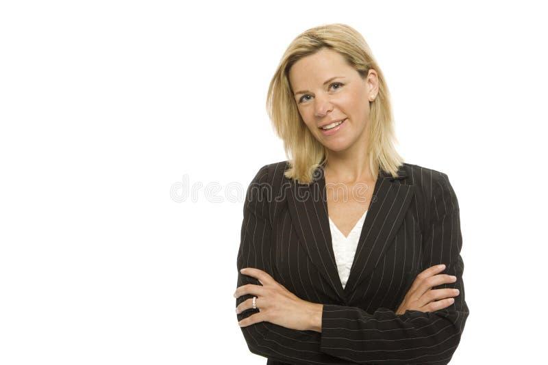Mulher de negócios com confiança imagens de stock