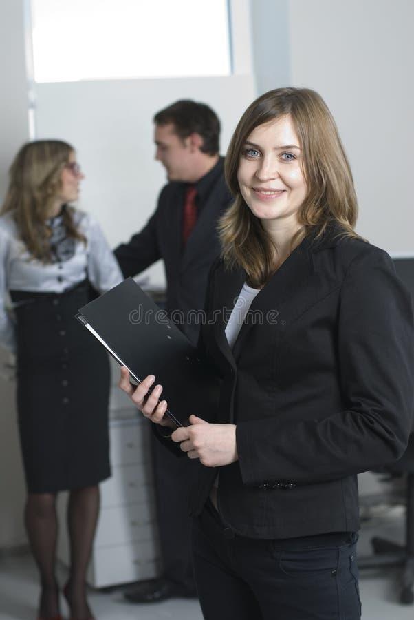 Mulher de negócios com equipe fotos de stock