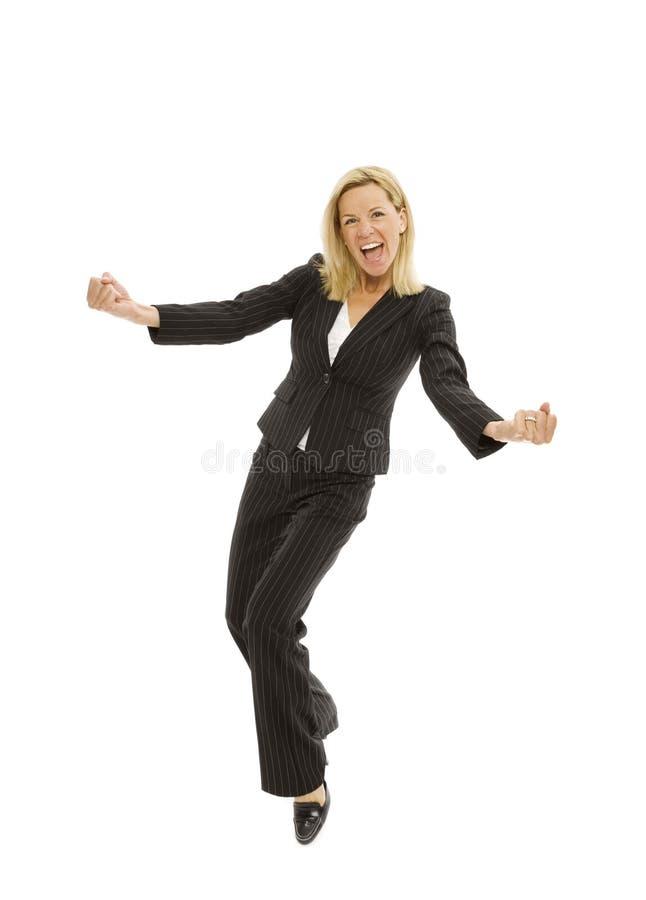 Mulher de negócios com excitamento imagem de stock royalty free