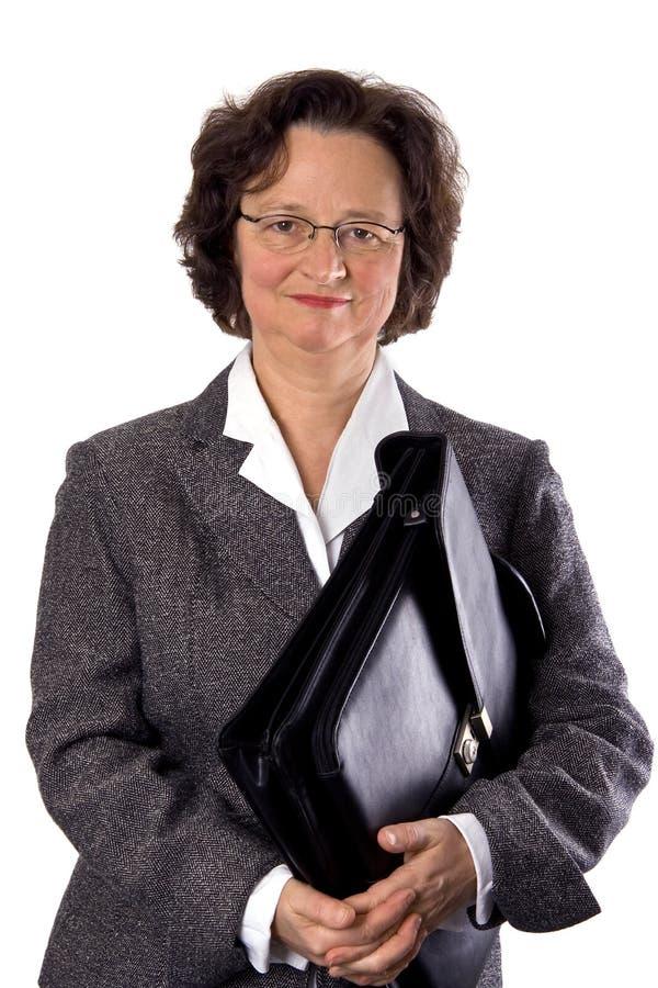 Mulher de negócios com pasta imagens de stock