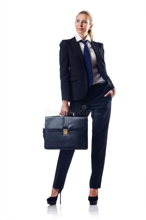 Mulher de negócios com pasta foto de stock royalty free
