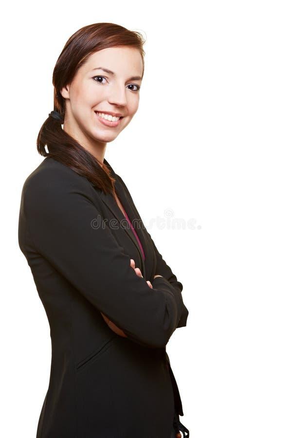 Mulher de negócios com seus braços cruzados fotografia de stock