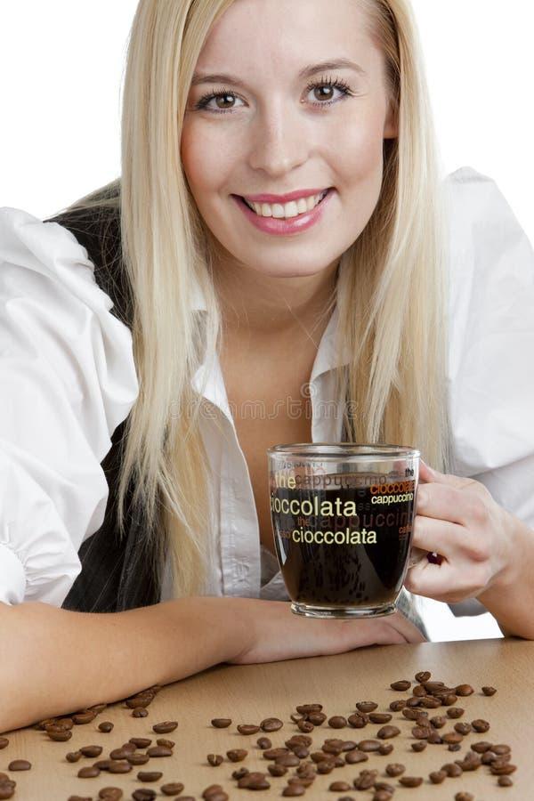 Mulher de negócios com um café fotos de stock