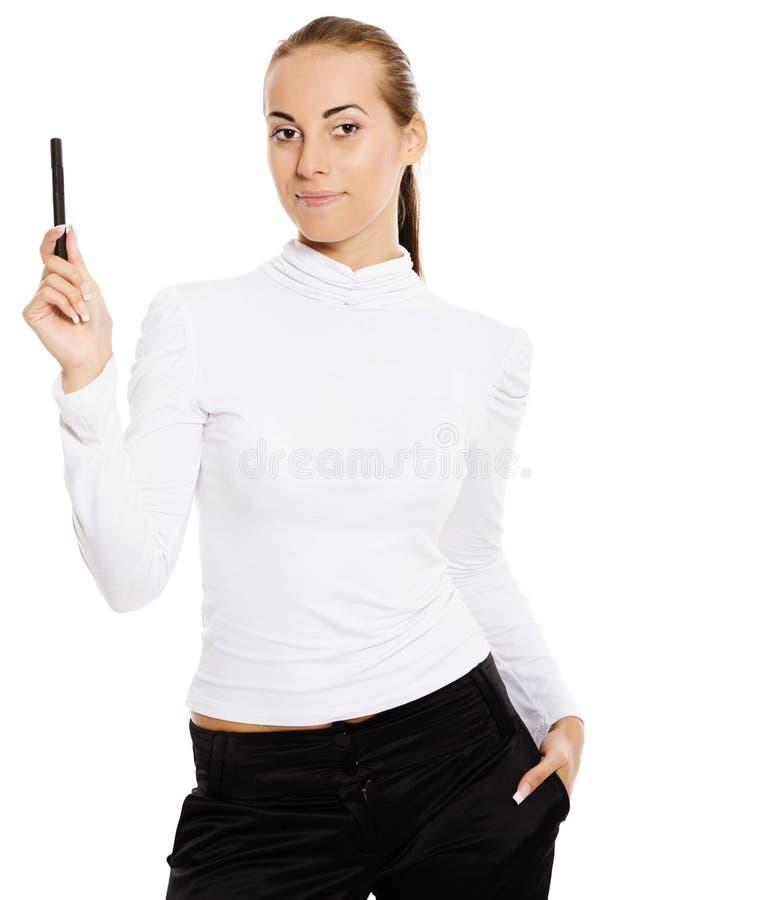 A mulher de negócios começ a idéia fotos de stock