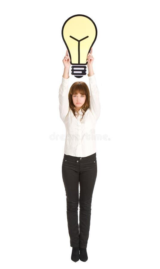 A mulher de negócios começ uma idéia imagens de stock