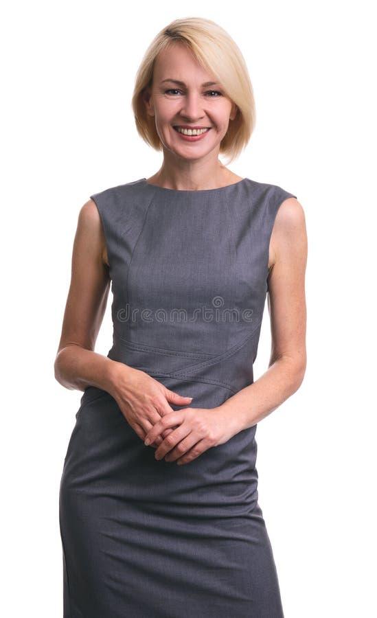Mulher de negócios confiável bonita foto de stock royalty free