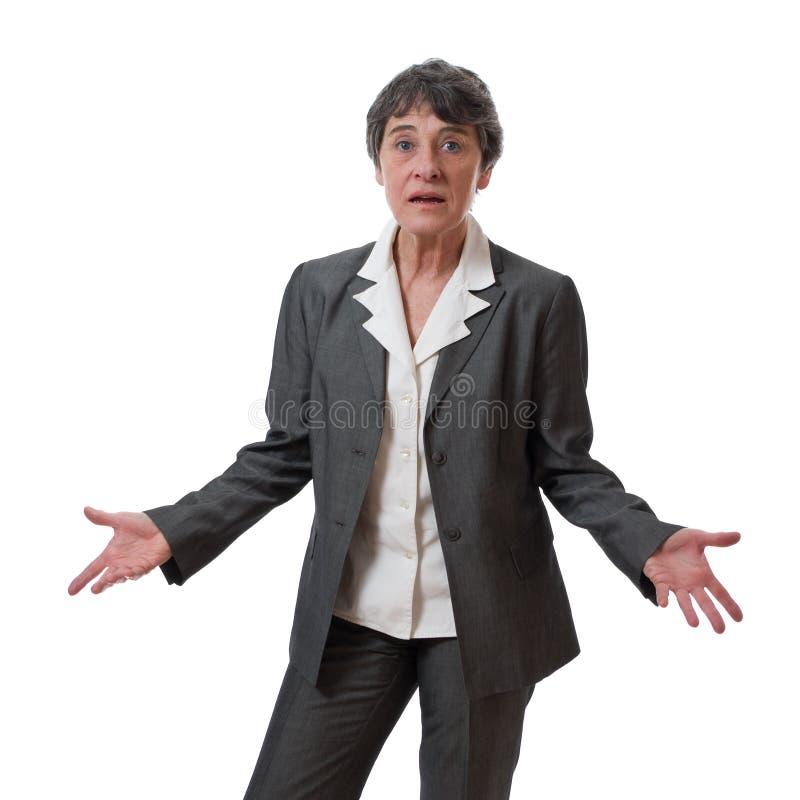 Mulher de negócios confusa imagens de stock royalty free