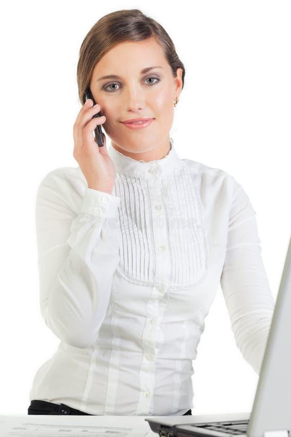 Mulher de negócios consideravelmente nova imagem de stock royalty free