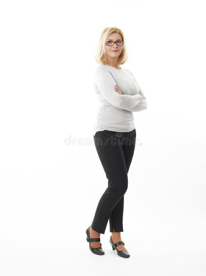 Mulher de negócios da Idade Média imagens de stock