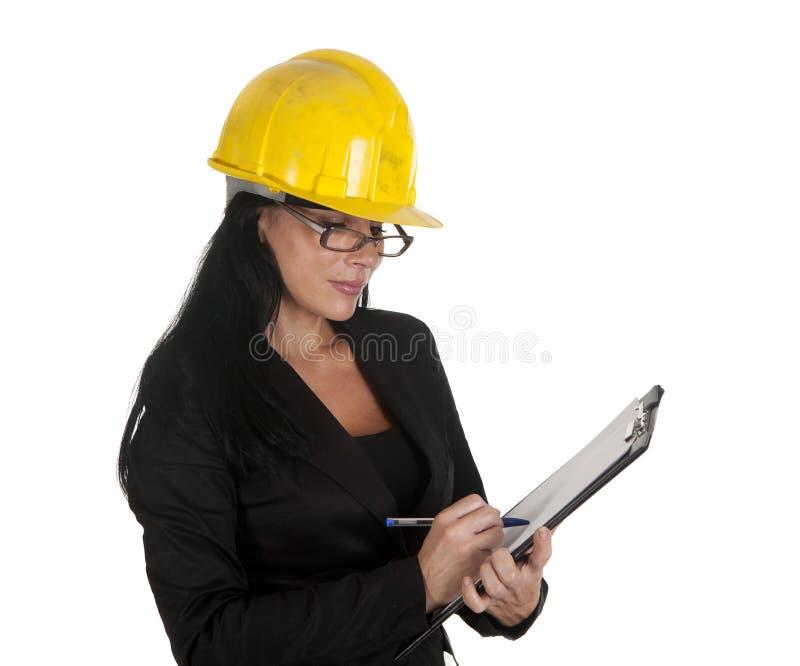 Mulher de negócios da inspeção imagens de stock royalty free