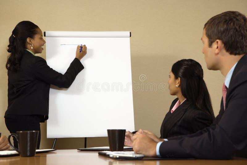 Mulher de negócios da liderança. fotografia de stock