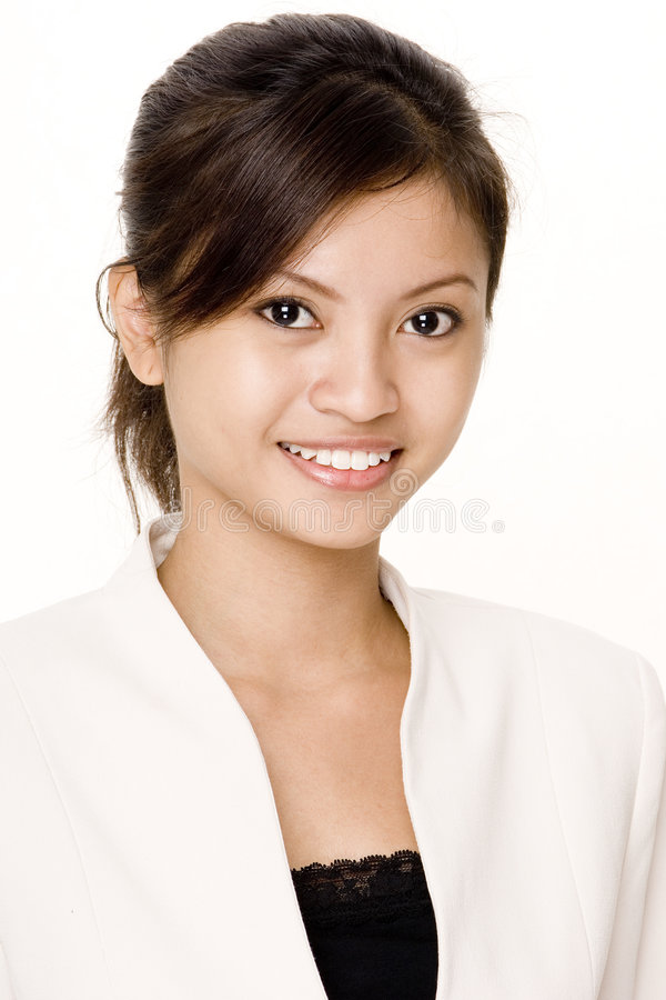 Mulher de negócios de sorriso 3 fotografia de stock
