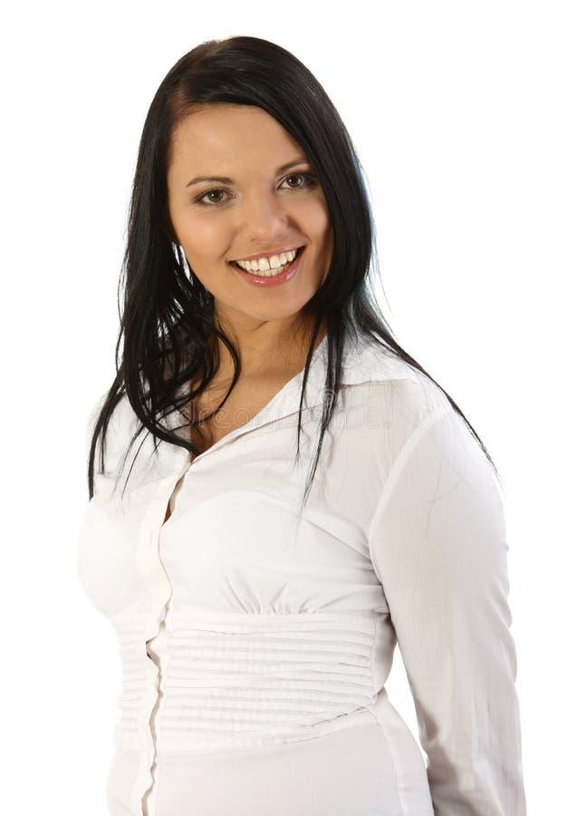Mulher de negócios de sorriso nova imagem de stock royalty free