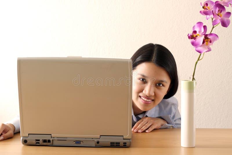Mulher de negócios de trabalho imagens de stock royalty free
