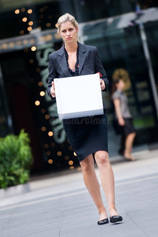 Mulher de negócios desempregada foto de stock royalty free