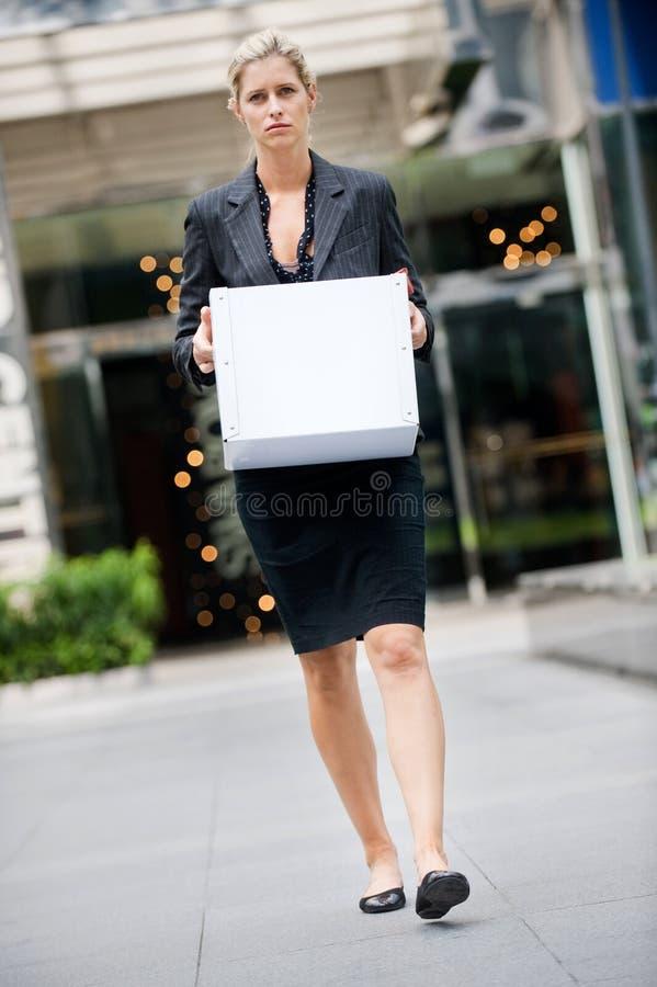 Mulher de negócios desempregada foto de stock