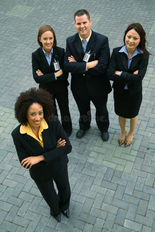Mulher de negócios do americano africano como o líder imagem de stock