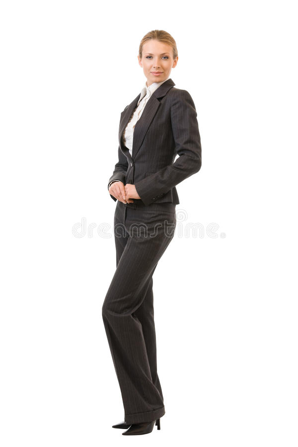 mulher de negócios do Cheio-corpo, isolada fotografia de stock royalty free