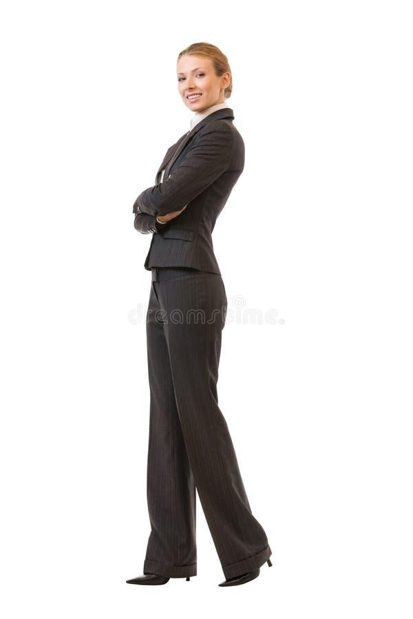 mulher de negócios do Cheio-corpo, isolada imagens de stock
