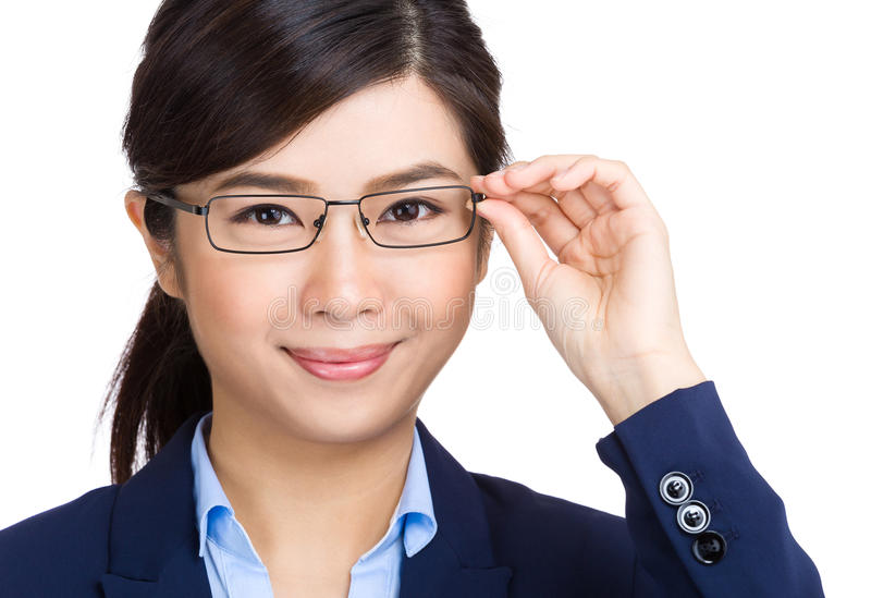 Mulher de negócios do eyewear dos vidros foto de stock