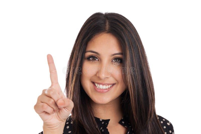 Mulher de negócios do número um fotos de stock royalty free