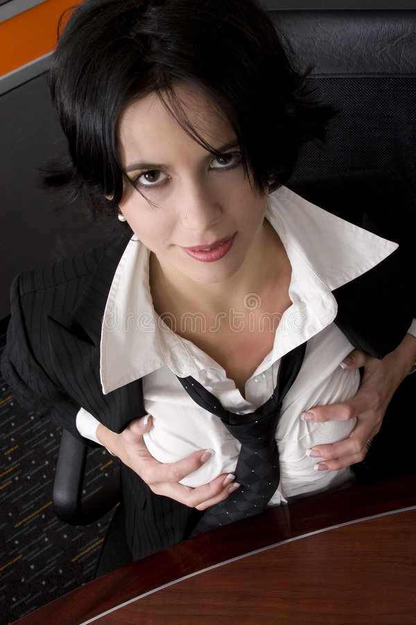 Mulher de negócios do peito imagens de stock