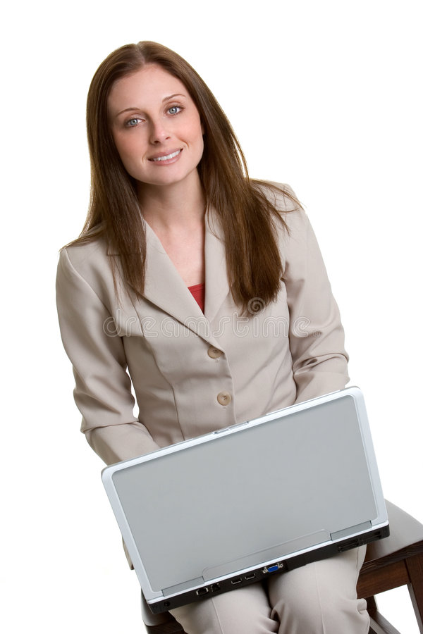 Mulher de negócios do portátil fotos de stock